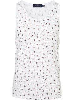 WHITE ANCHOR PRINT VEST Weather Wear, Warm Weather, Anchor Print, Delta Gamma, Anchors, Style Ideas, Nautical, Style Me, Men's Fashion