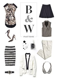 Black and white—trending for fall