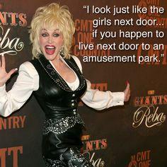 Dolly Parton on cosmetics.