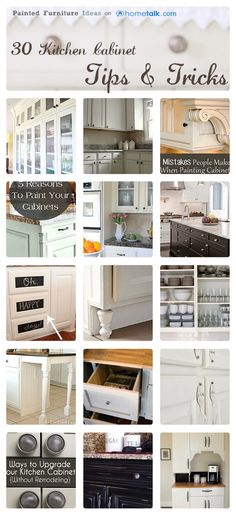 30 Kitchen Cabinet Tips & Tricks | curated by 'Painted Furniture Ideas (P.F.I.)' blog!