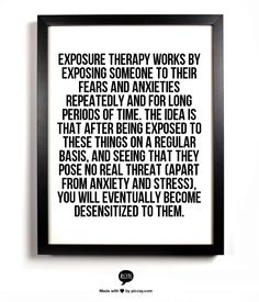 Learn how exposure therapy can ease your anxious thoughts #anxiety