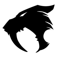 Commission - Smilodon Logo by jocarra on DeviantArt Body Art Tattoos, Tattoo Drawings, Tribal Tattoos, Cool Symbols, Animal Symbolism, Lion Art, Desenho Tattoo, Lion Tattoo, Symbolic Tattoos