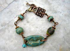 key to my heart bracelet     by marthasrubyacorn on Etsy, $49.00