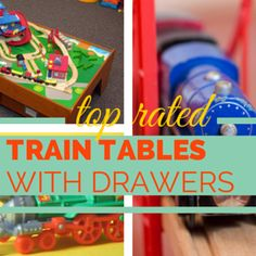 Top rated children's train tables with trundle or pull out drawers for storage