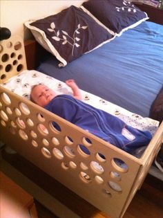 Co-sleeper,  side car baby bed