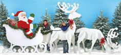 santa patterns for outdoor | Santa & Elves - Gigantic Santa, Sleigh & Reindeer Pattern Set