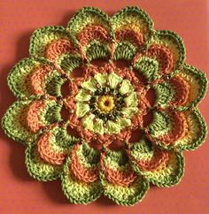 Mandala Motif By Sabina Poonwassies - Free Crochet Pattern - (ravelry)
