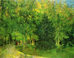 A Lane in the Public Garden at Arles Landscape Oil Painting Reproductions on Canvas
