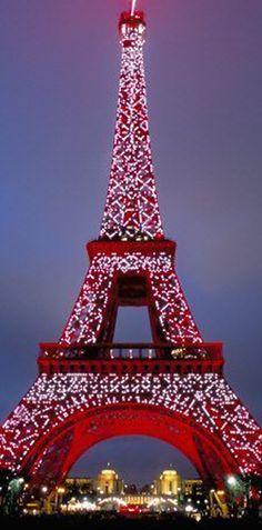 Climb the Eiffel tower at Christmas