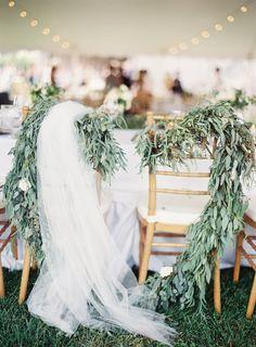 Elegant sweetheart chairs: http://www.stylemepretty.com/2015/10/12/nautical-summer-wedding-in-maryland/   Photography: Michael and Carina - http://www.michaelandcarina.com/