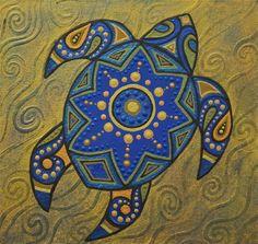 Blue Turtle Art Print by Amy Cunningham-Waltz | Society6