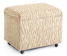 Instead of shoving a bulky file cabinet in your closet, why not park one of these in your living room? It holds standard-size hanging files, and the casters make it easy to move. Choose from more than 100 fabrics. File storage ottoman, $299-$459; ballarddesigns.com