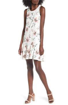 Main Image - BP. Floral Ruffle Hem Dress