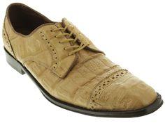Men's dress shoes tan genuine crocodile alligator skin oxfords loafers exotic