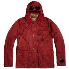 C.P. Company Garment Dyed Nylon Goggle Jacket (Rose Wood)