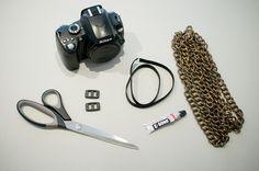 diy chain camera strap