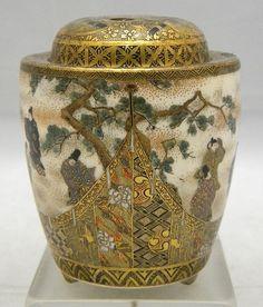 Japanese__SATSUMA pottery 香炉. Satsuma Vase ( View Two)