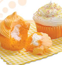 Orange Cream Dream Cupcakes...@Tammy Tipton I think my dad would love these! He loved the orange hostess cupcakes