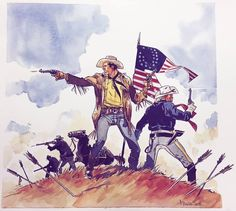 Tex na Batalha de Little Bighorn, na DESLUMBRANTE ARTE de Stefano Biglia