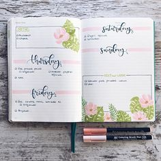 Bullet Journal 2019, Bullet Journal Notes, Bullet Journal Layout, My Journal, Journal Pages, Date Note, Koi, Filofax, Journal Inspiration