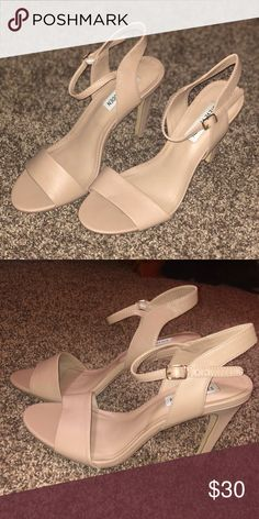 96d6993348ab Nude Steve Madden Heels Size 8 but size seems to run a bit smaller Steve  Madden Shoes Heels
