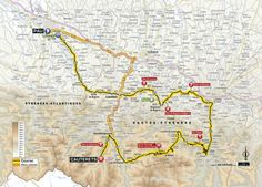 In the Hautes-Pyrénées... The Stage 11 map. (ASO)