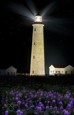 Phare de Cap Desrosiers (Lighthouse) Gaspé Québec CANADA