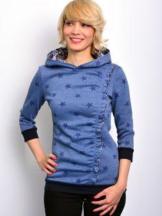 Hoodies - EXPRESS - M (38) - Kapuzenshirt blau von STADTKIND - ein Designerstück von stadtkind_potsdam bei DaWanda