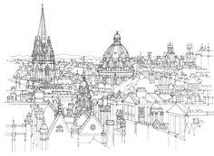 City Illustration | Oxford Cityscape
