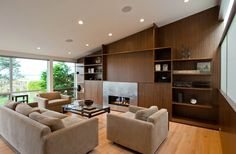 Walnut built in cabinets by BUILD LLC