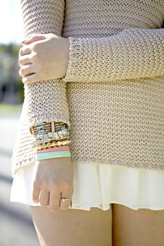 #howtowear #pasteljewellery stack it with a cosy jumper #annalouoflondon