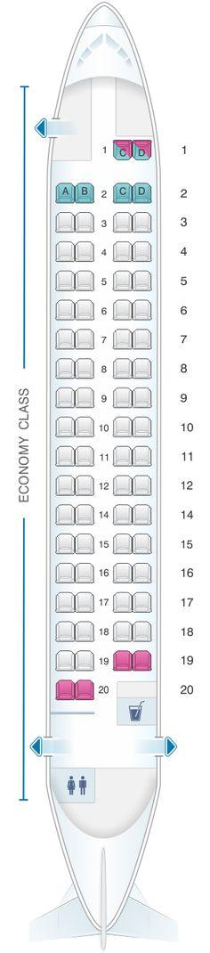 Seat Map Cebu Pacific Air ATR 72 500