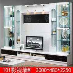 Source Modern wooden 55 inch tv wall unit design furniture 101# on m.alibaba.com