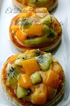 El dulce paladar: Tartaletas de fruta bajas en calorías.