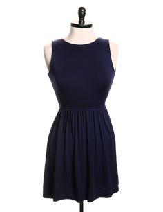 Aqua Blue Solid A-Line Dress - Size XS