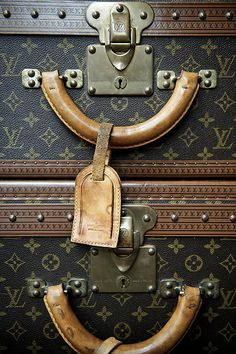 Louis Vuitton vintage trunks #suitcase #travel