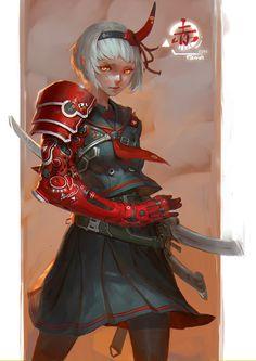 Prosthetics Anime Samurai Girl