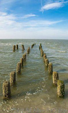 Groins in the North Sea, Wangerooge, Germany