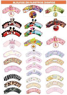 Sobre Wrappers Personalizados Para Tus Cupcakes Souvenirs Cumples cakepins.com