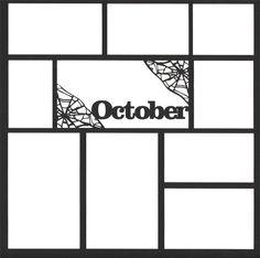 October 12 x 12 Overlay Laser Die Cut Scrapbook Frames, Scrapbook Titles, Scrapbook Sketches, Baby Scrapbook, Scrapbooking Layouts, Scrapbook Patterns, Scrapbook Templates, Project Life, Dice Template