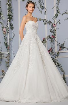 Off White Princess Tulle Dress With A Sweetheart Neckline And An  Embroidered Bodice And Skirt.