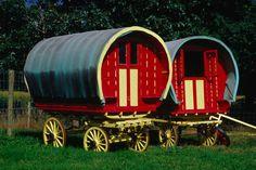 Gypsy Caravans at Bunratty Folk Village- Ireland's top 10 unusual places to stay