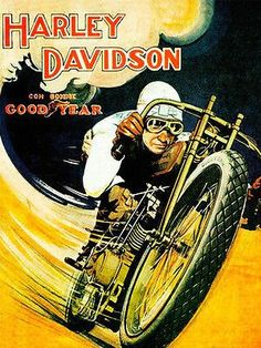 Vintage Harley Davidson Motorcycle Poster V Twin Bike Goodyear Tires Ad Poster Poster 1918 World War 1 8 x 11 Harley Davidson Posters, Vintage Harley Davidson, Harley Davidson Kunst, Harley Davidson Motorcycles, Honda Motorcycles, Old Poster, Poster Retro, Bike Poster, Motorcycle Posters