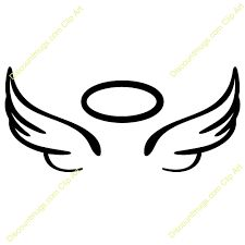Image Result For Easy To Draw Angel Wings Halo Christmas Tattoos