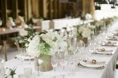 White and Green Wedding Centerpiece | photography by http://www.ashleyseawellphotography.com