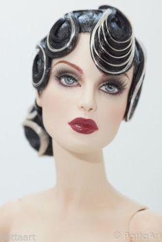 Art Deco #17 OOAK wig Sybarite V1 V2 The Numina new JAMIEshow Gene doll - Patta - - - - - HAPPY HALLOWEEN 2013 - - - - -