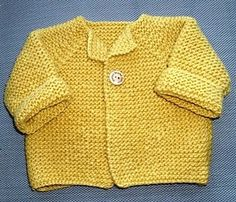 Knitted Baby Cardigan Pattern
