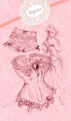 ...lingerie drawing...love! http://findanswerhere.com/womensunderwear
