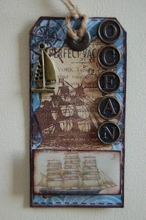 Beach Scrapbook Layouts, Nautical Cards, Arts And Crafts, Paper Crafts, Handmade Tags, Mail Art, Under The Sea, Bookmarks, Gift Tags