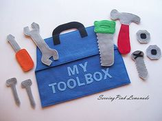 felt toolbox tutorial and free pattern ~ from Serving Pink Lemonade